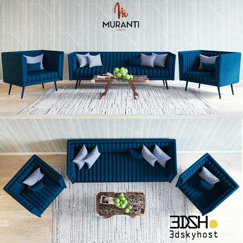 3D Model Muranti Sofa Free Download