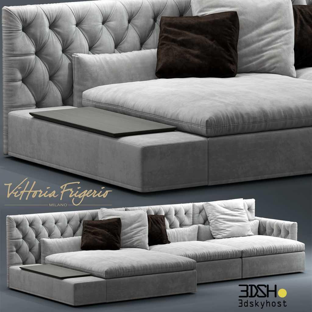3D Model Sofa Dominio capitonne Frigerio 86 Free Download