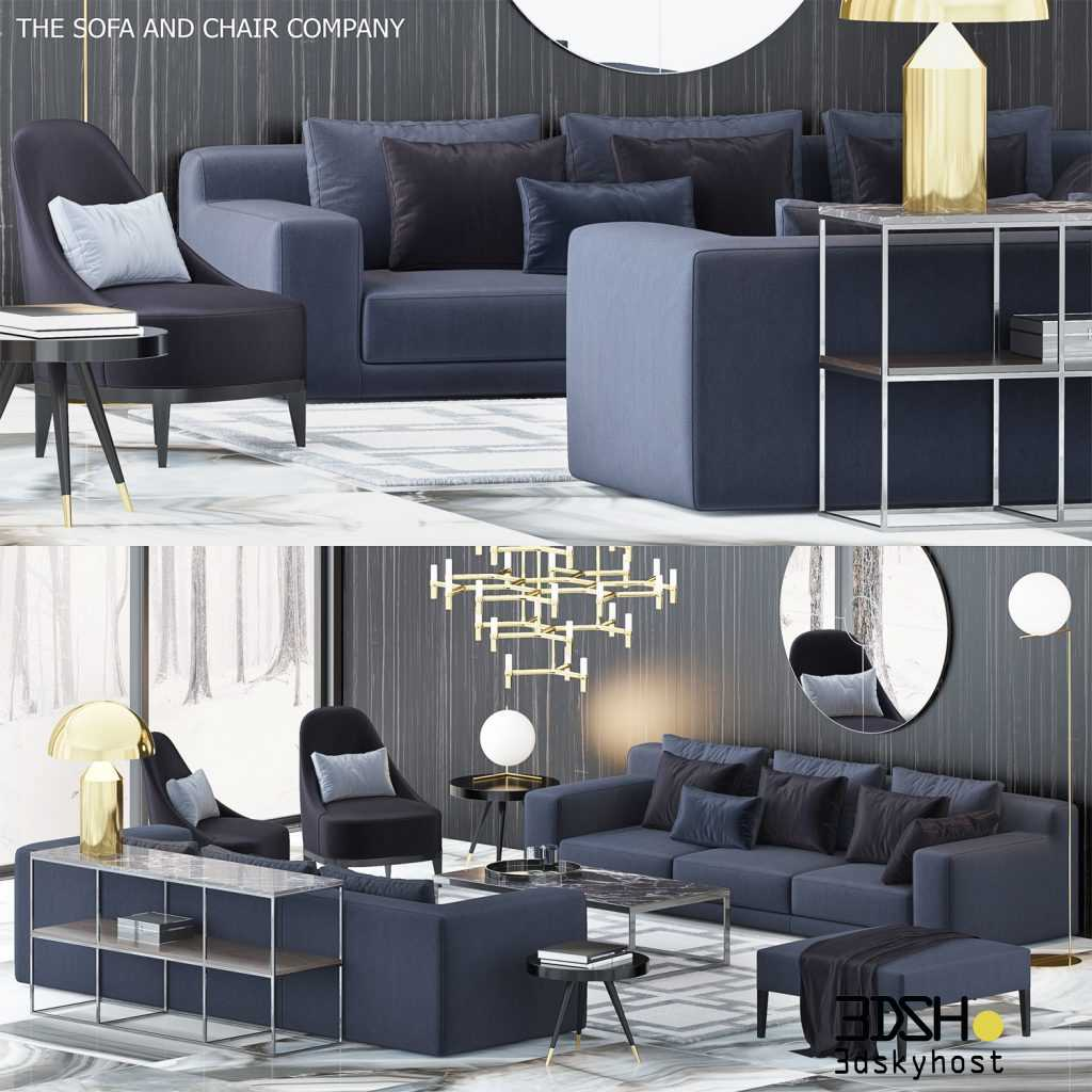 3dSkyHost: 3D Model The Sofa & Chair Company 107 Free Download