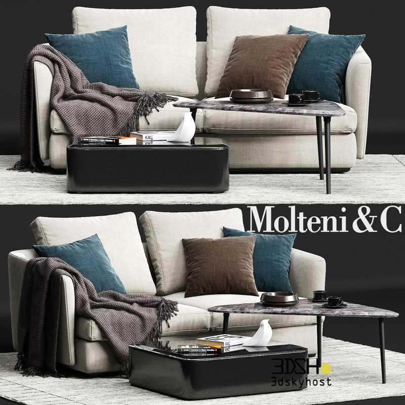 3D Model Molteni Sofa 89 Free Download