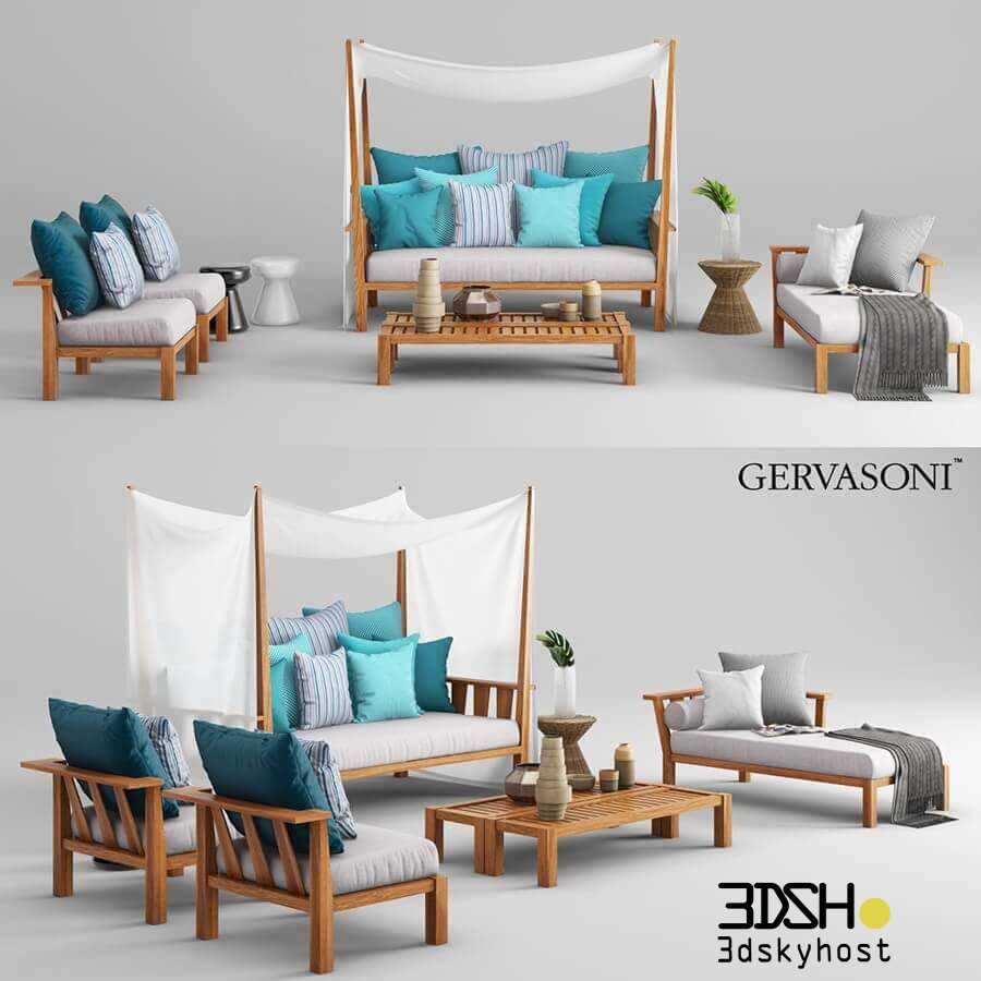 3dSkyHost: 3D Model Gervasoni Inout Sofa 102 Free Download
