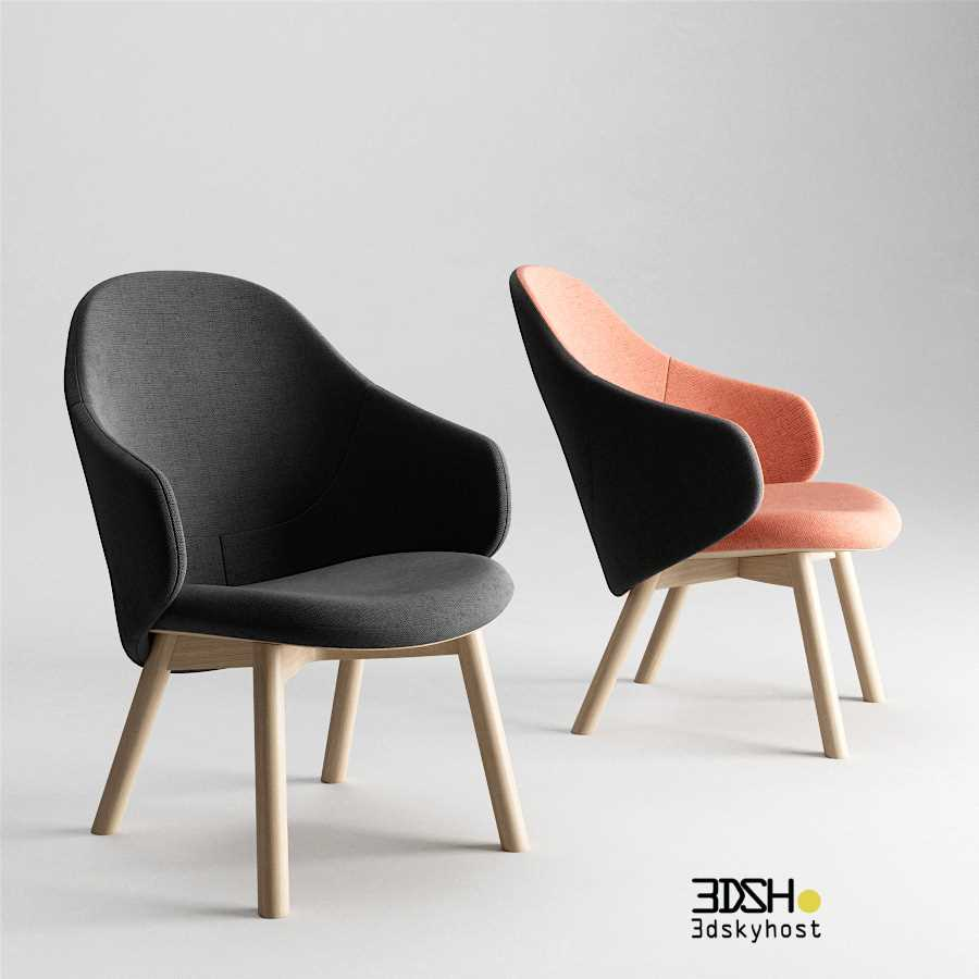3D Model Alba Lounge Armchair By TON free download