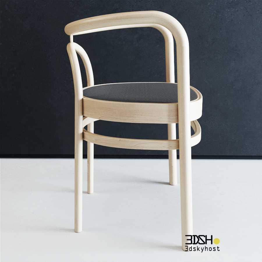 3D Model PoulKjaerholm PK15 Ash-Cane Chair free download