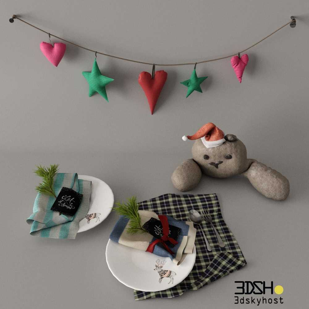3dSkyHost: Christmas decorations 3d model