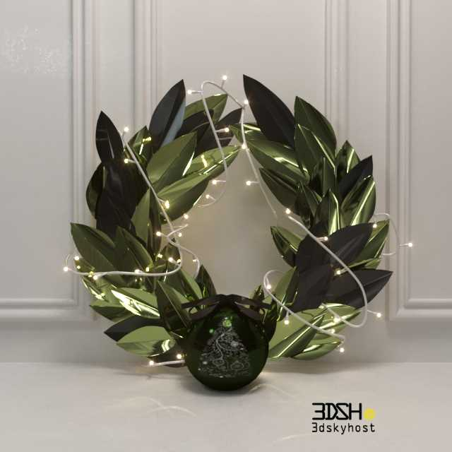 3dSkyHost: Christmas wreath 3d model