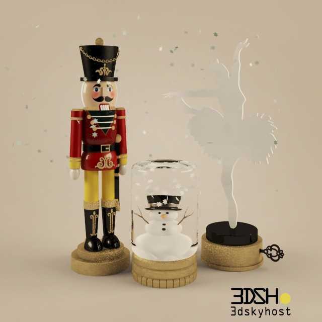 Christmas Decor 14 3dmodel Free Download