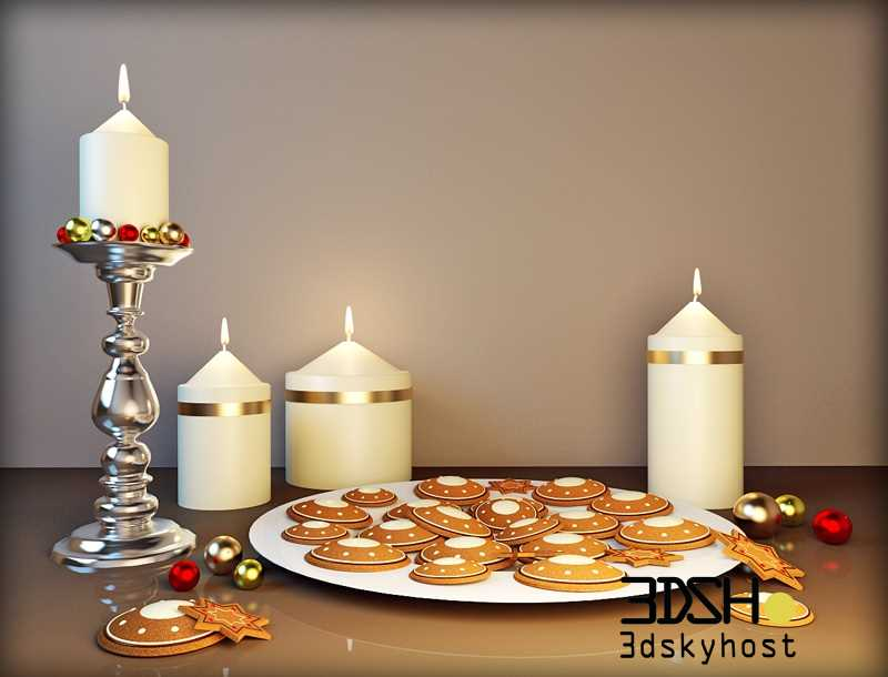 Christmas Decor 13 3dmodel Free Download