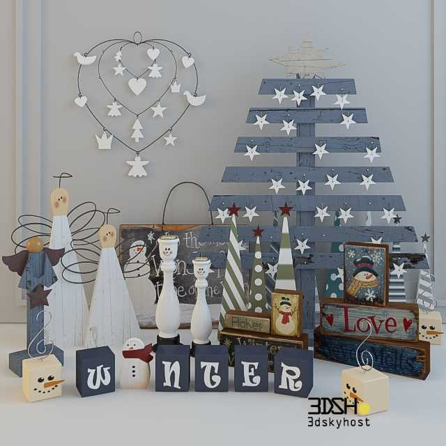 3dSkyHost: Christmas Decor 5 3dmodel Free Download