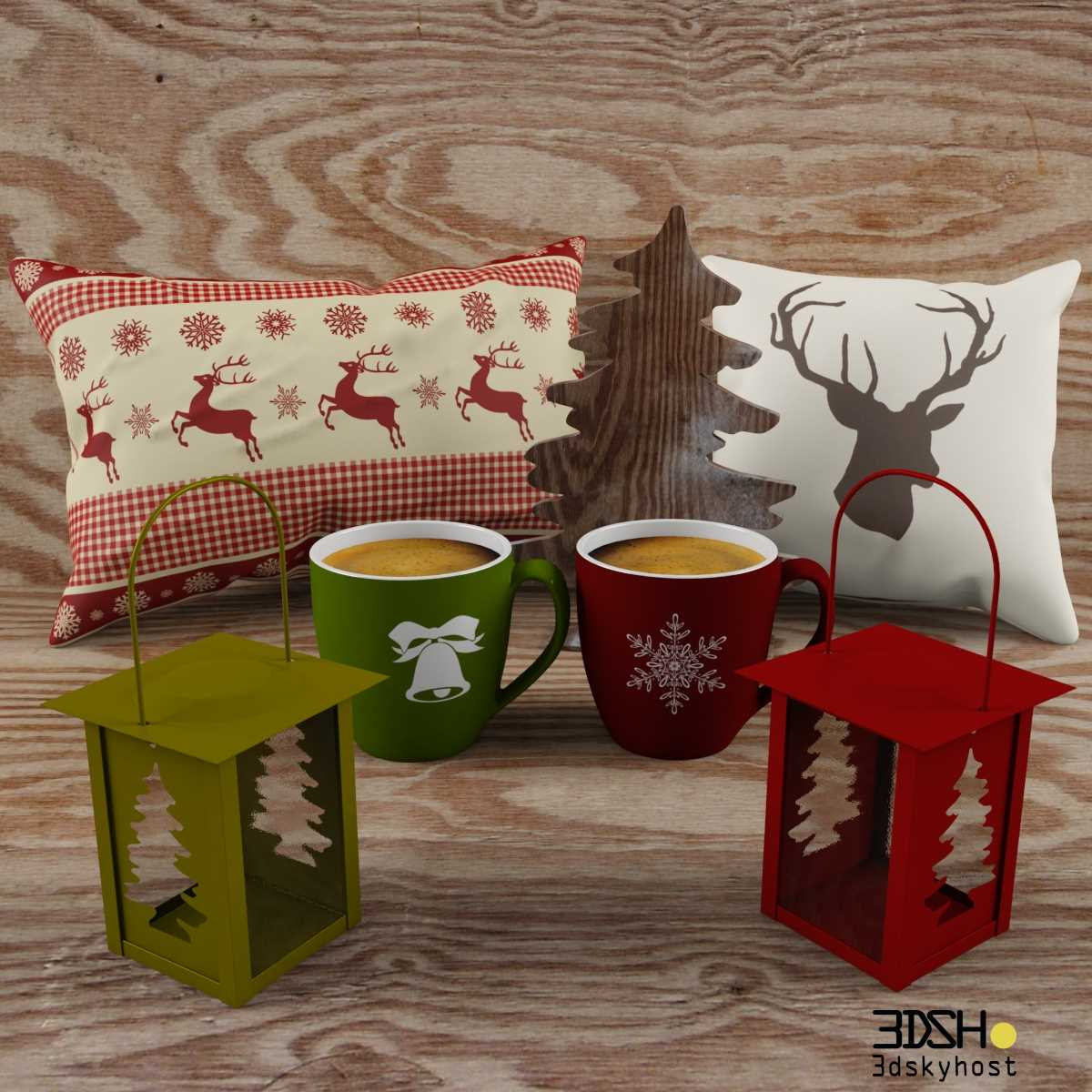 3dSkyHost: 3D Model Christmas Decoration free download