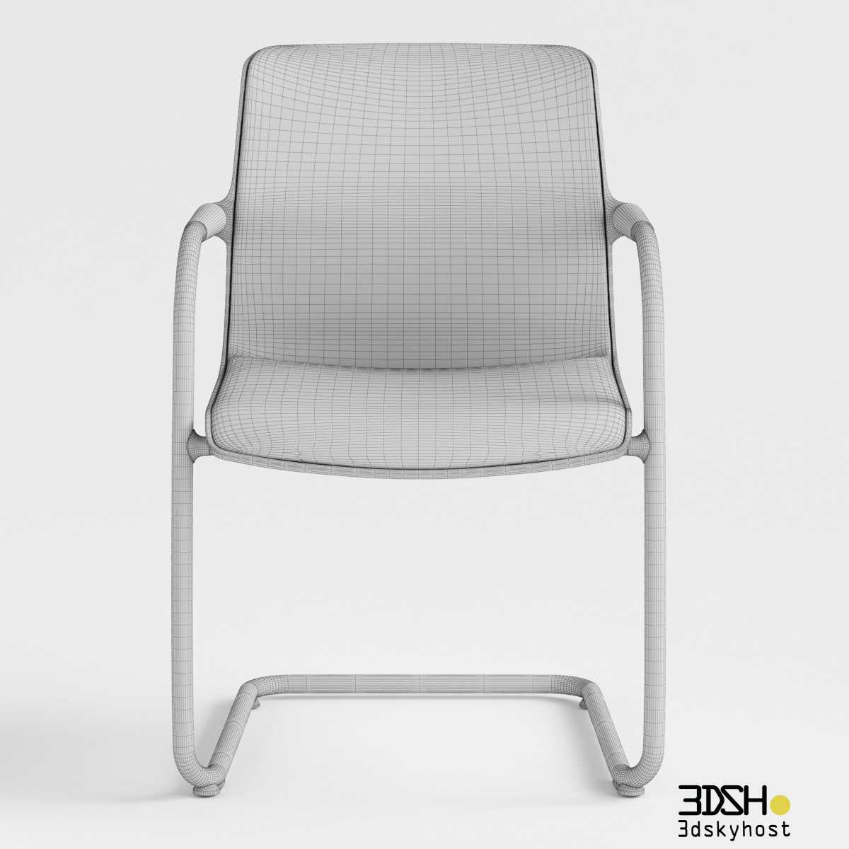 3D Model Unix Chair Cantilever Vitra free download