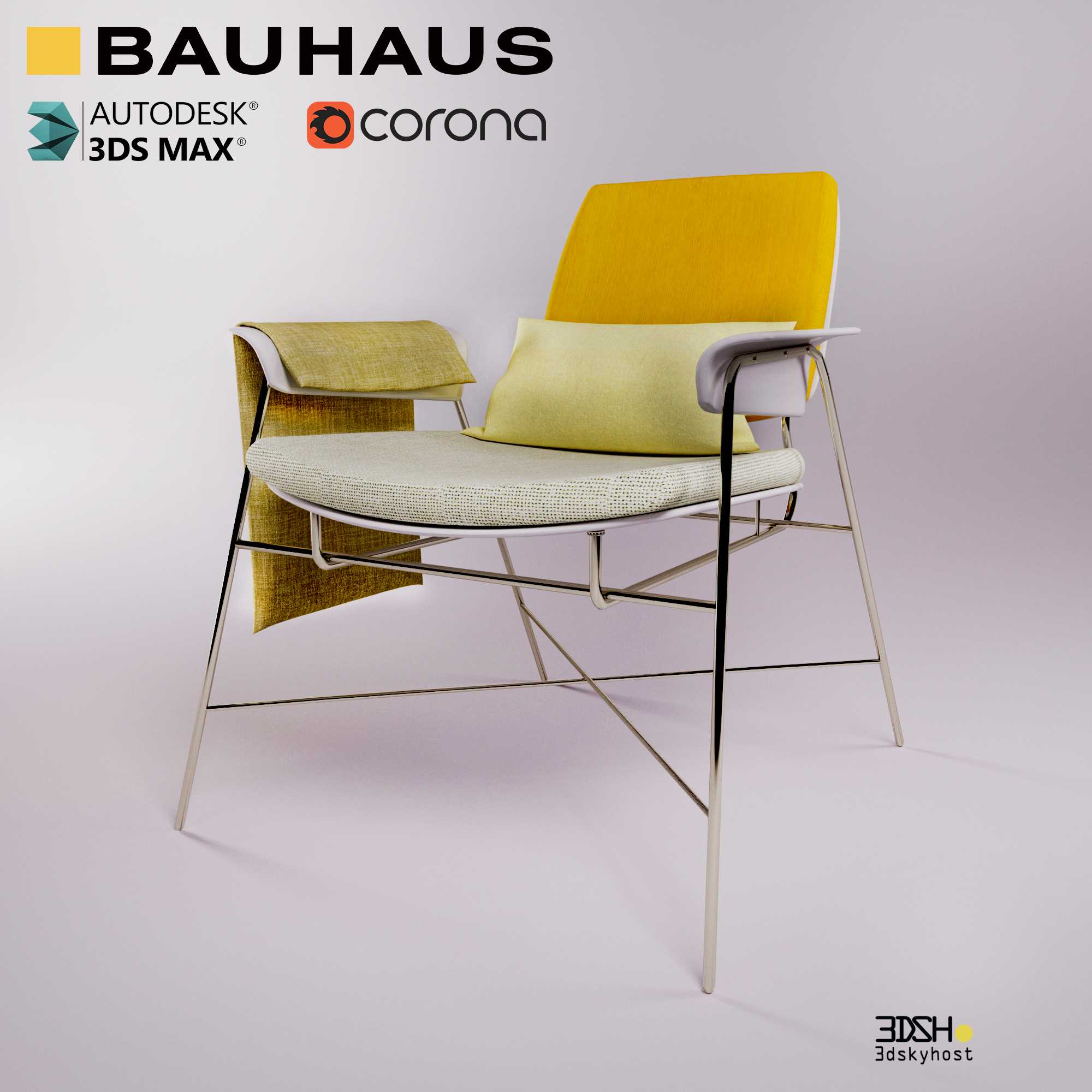 3dSkyHost: 3D Model Bauhaus Chair free download