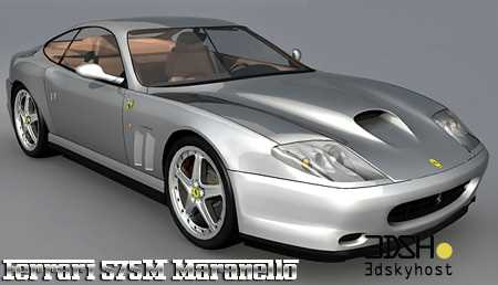 3dSkyHost: 3d model Ferrari 575M Maranello free download
