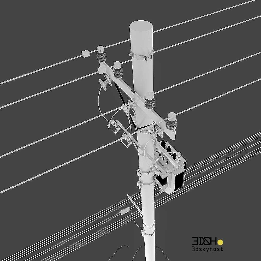 3dSkyHost: 3d model power poles free download