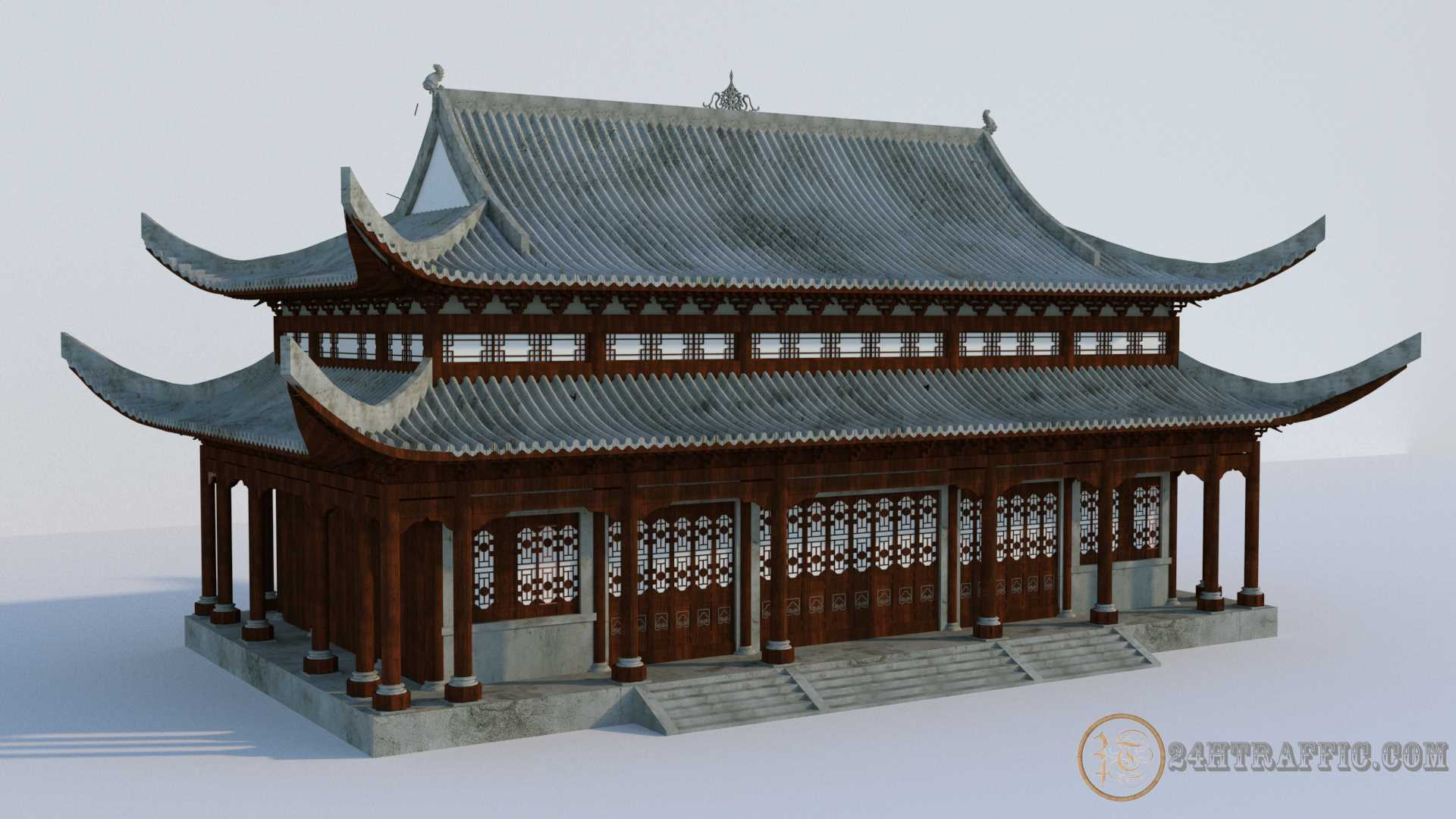 3dSkyHost: 3D Model Imperial Chinese Palace 3D Model Free Download