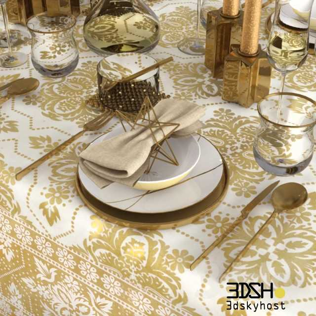 3dSkyHost: 3d model Tableware Zara Home-Christmas free download