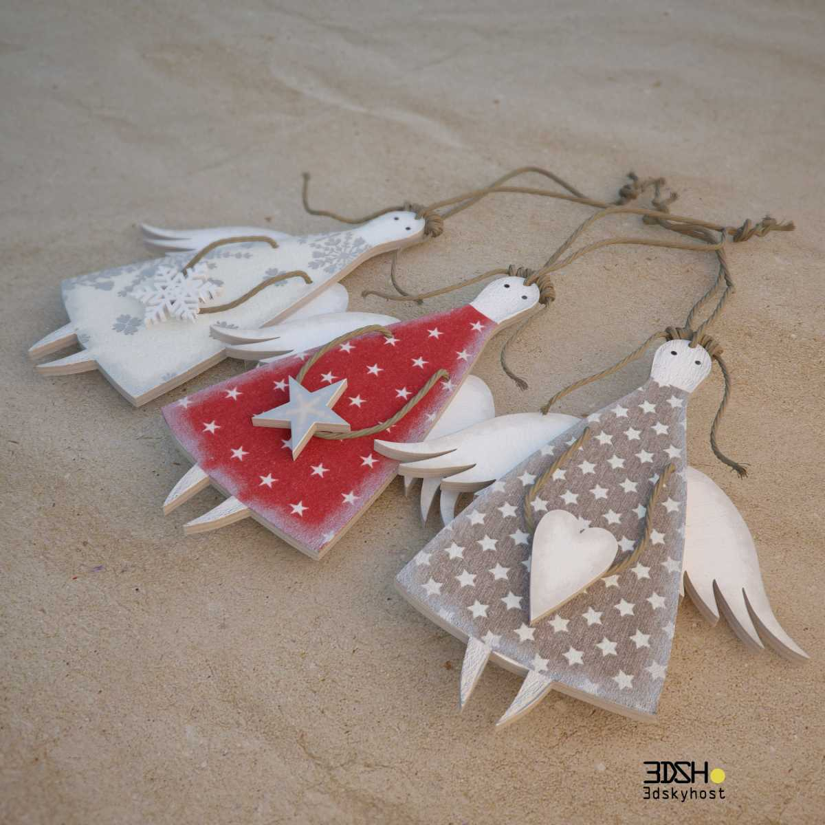 3dSkyHost: 3d model A set of decorative angels ANGELS-Christmas free download