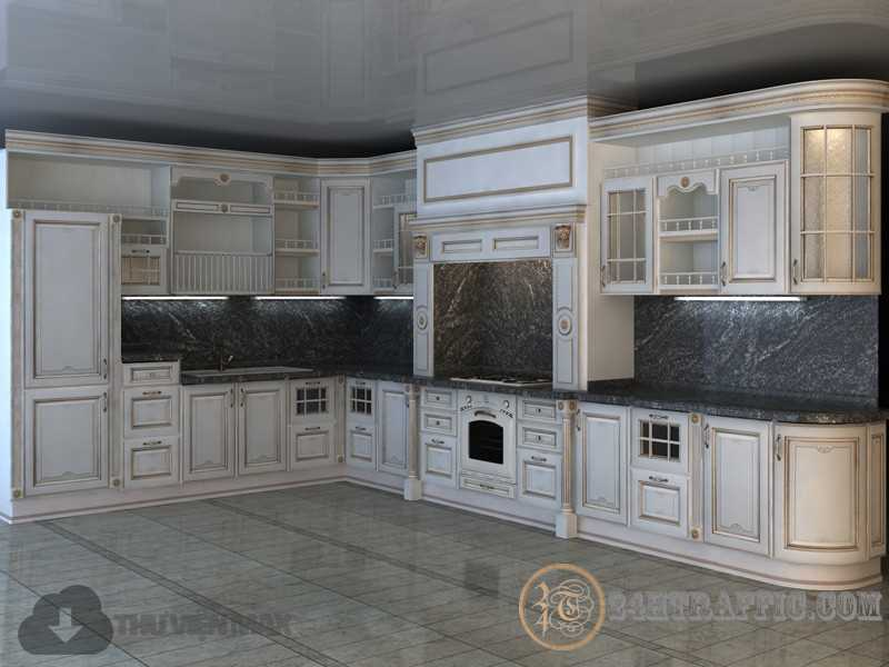 3dSkyHost: 3d Kitchen model 29 free download