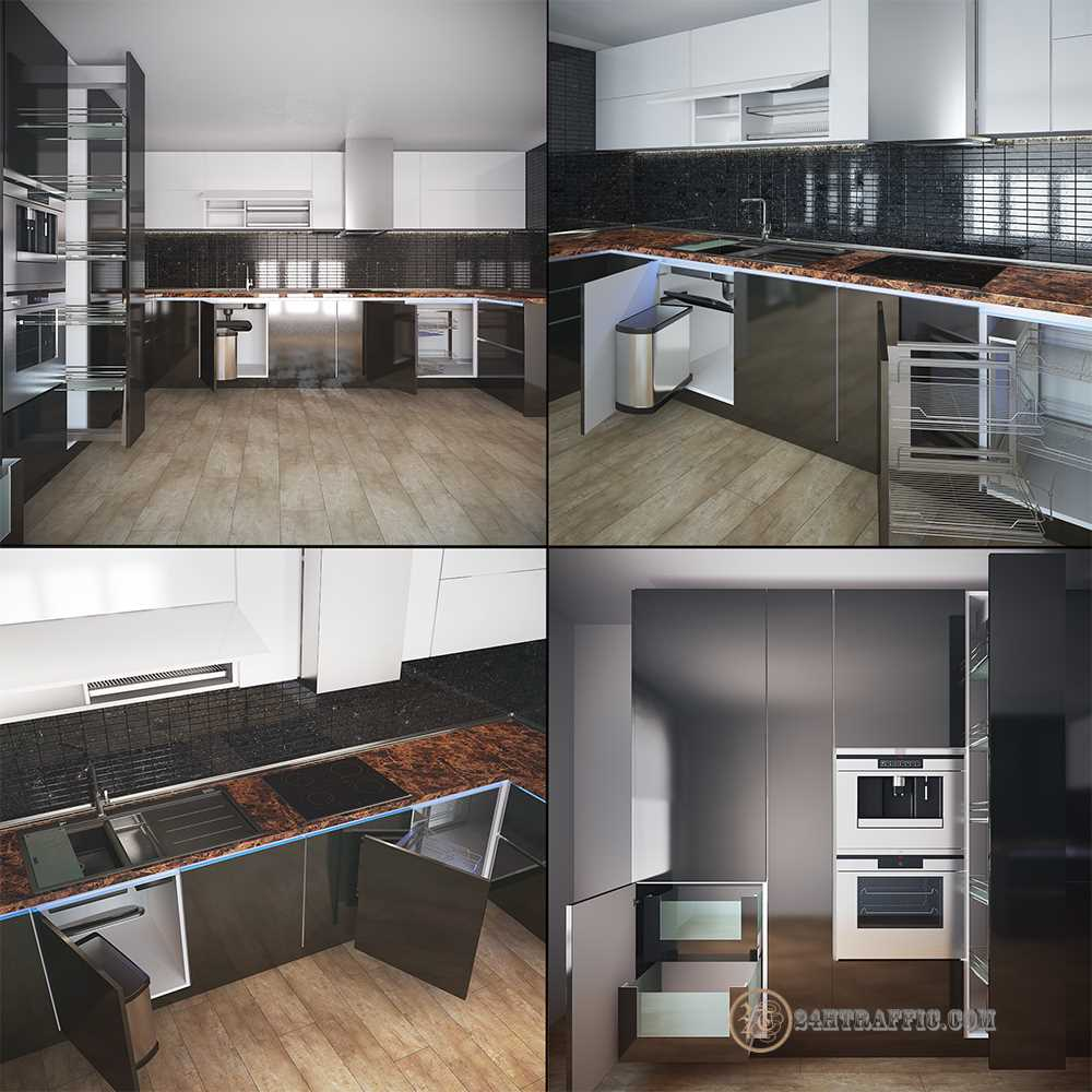 3dSkyHost: 3D Model Kitchen 116 Free Dowload