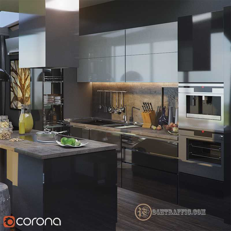 3dSkyHost: 3d Kitchen model 13 free download