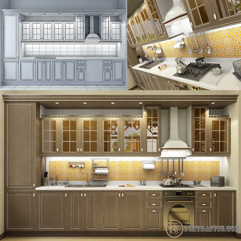 3dSkyHost: 3d Kitchen model 7 free download