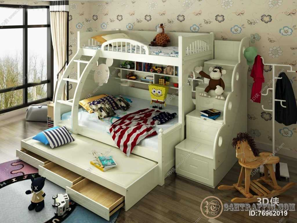3dSkyHost: 3d Child Bed Model 167 Free Download