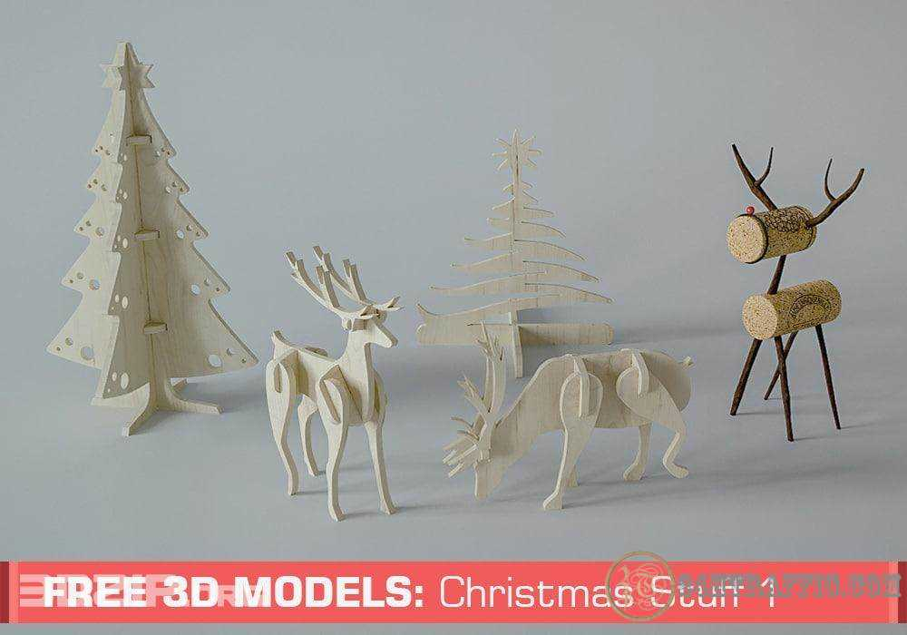 3dSkyHost: Free 3D Models: Christmas Stuff By Slice Cube Team