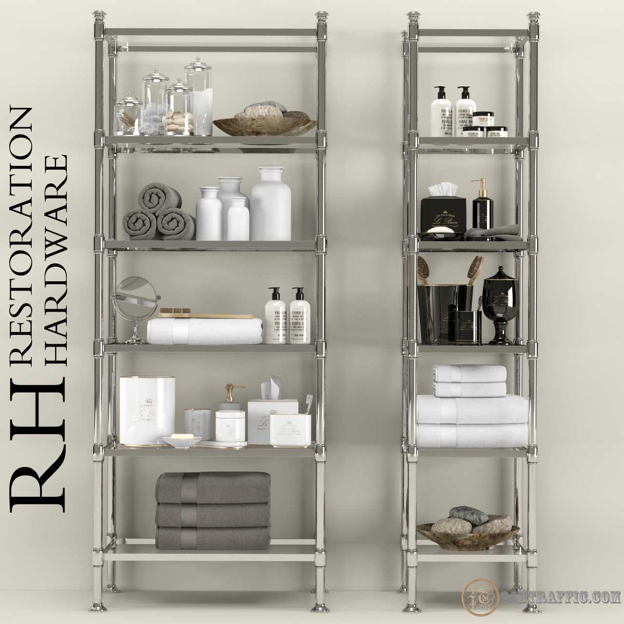 3dSkyHost: 3D Models Restoration Hardware Bathroom Acsessories 54 Free Download