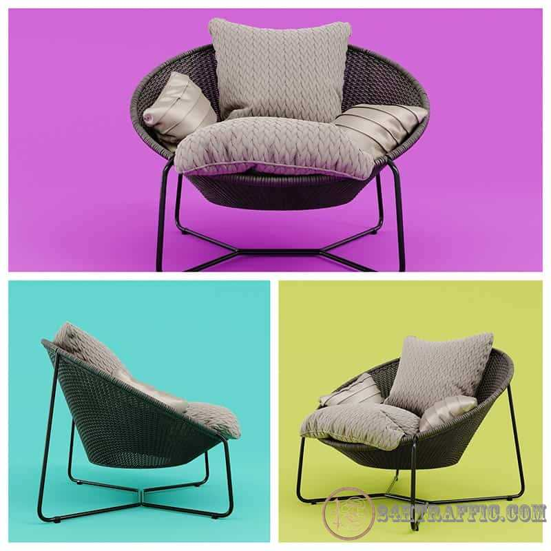 3dSkyHost: Free 3D Model Morocco Armchair From Laci Lacko