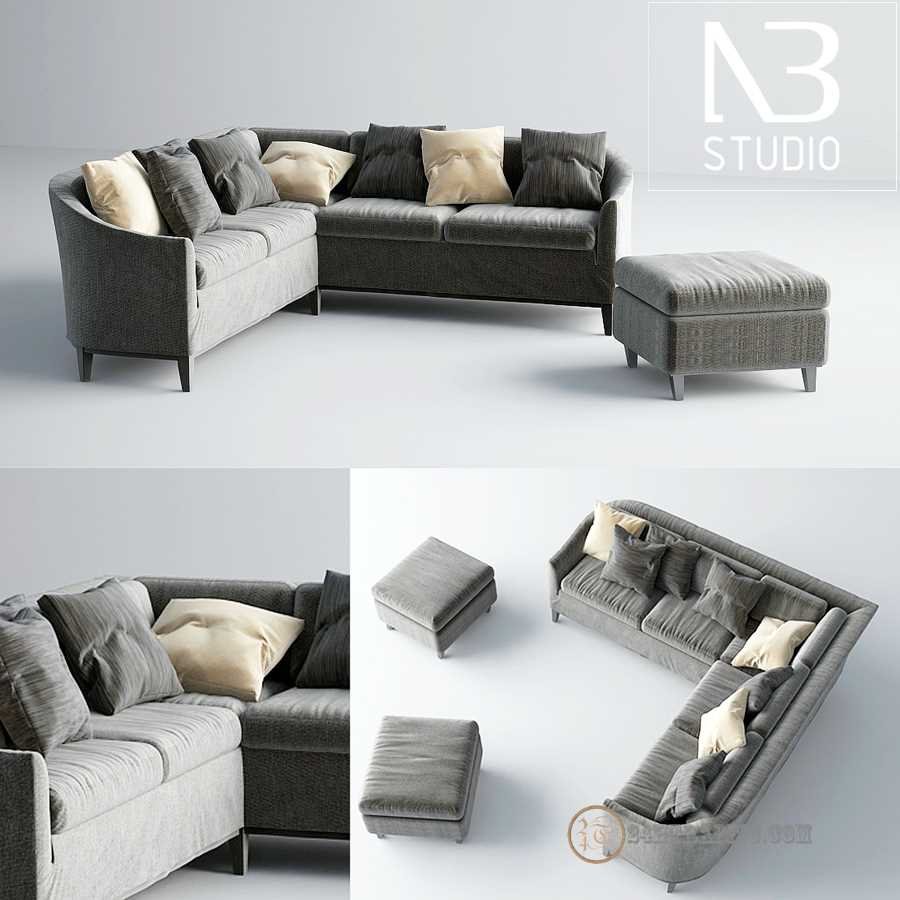 3dSkyHost: Free 3d Model sofa BC NB Studio x8