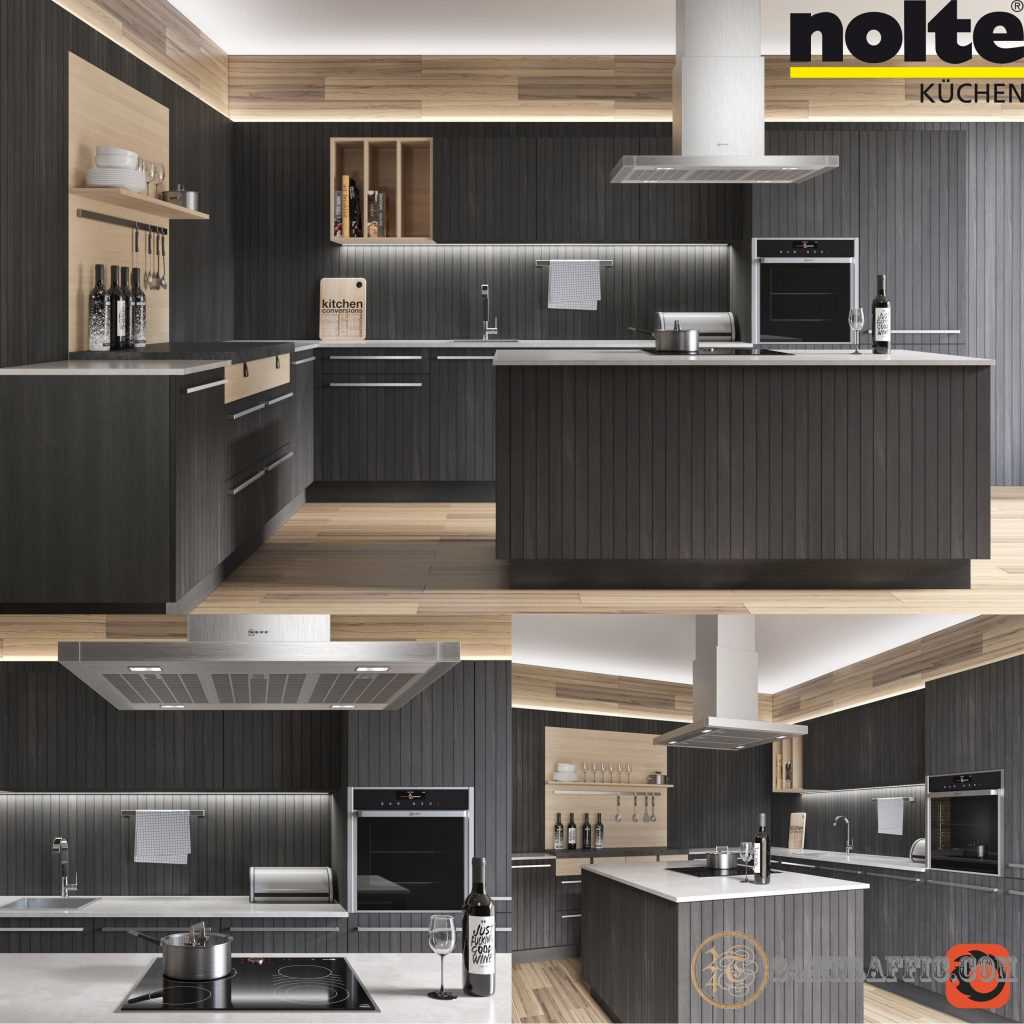 3dSkyHost: 3D Model Nolte Neo Chalet Kitchen 96 Free Dowload