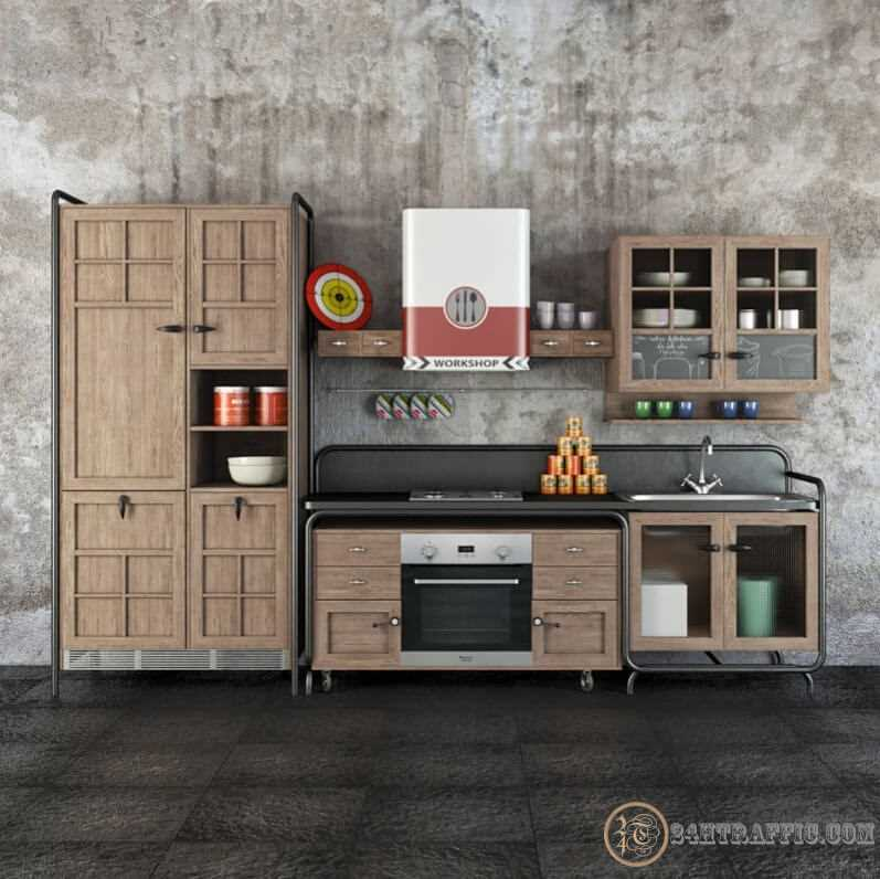 3dSkyHost: 3D Model Dialma Brown Workshop Kitchen 86 Free Dowload