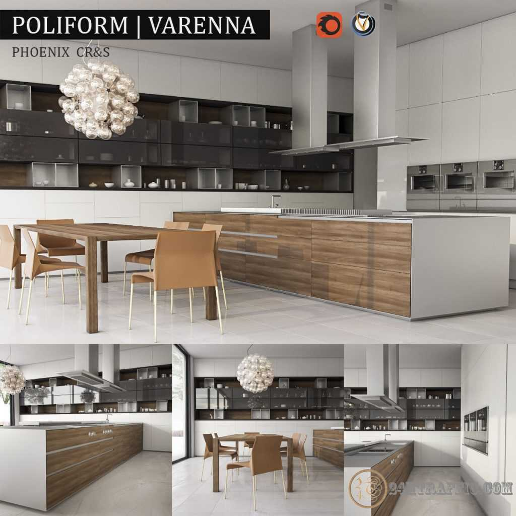 3dSkyHost: 3D Model Kitchen Varenna 83 Free Dowload