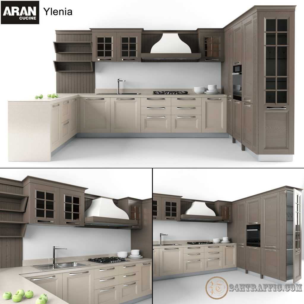 3dSkyHost: 3D Model Kitchen 79 Free Dowload
