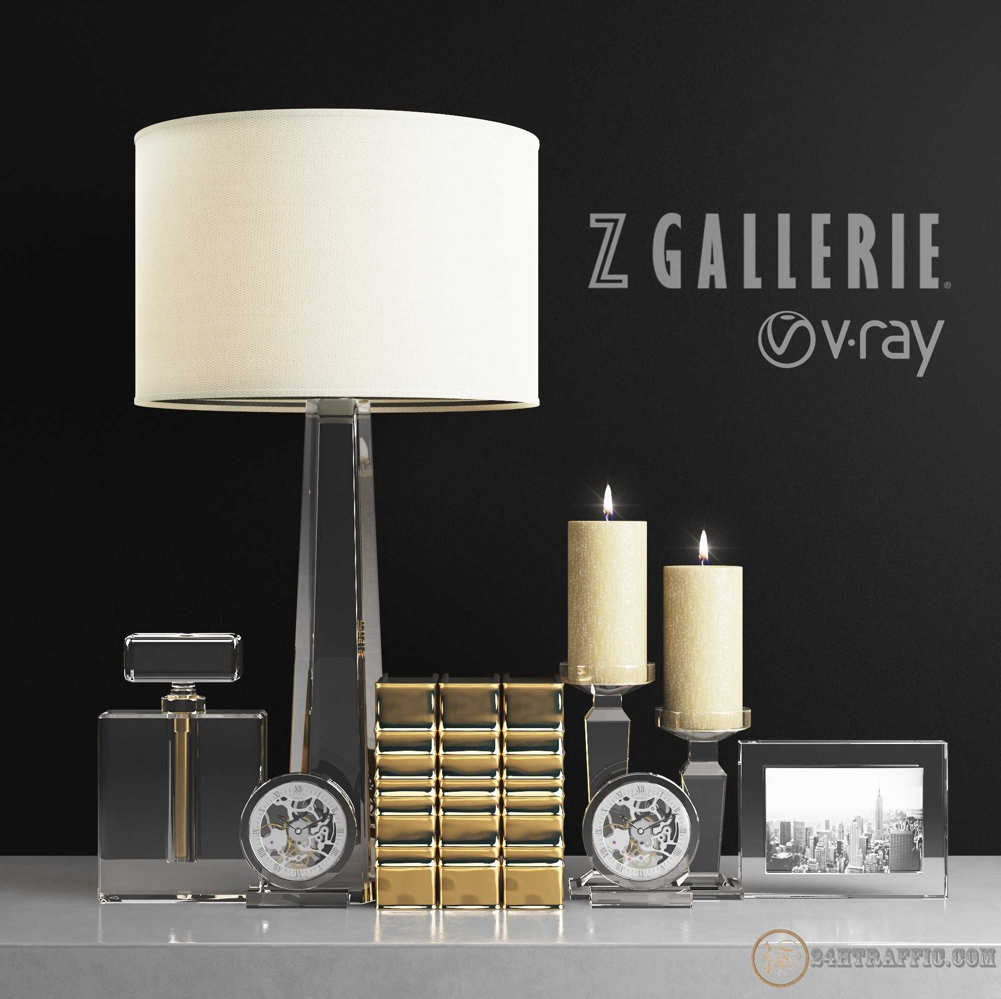 3dSkyHost: Free 3D Model Gallerie Crystal clear Table Lamp