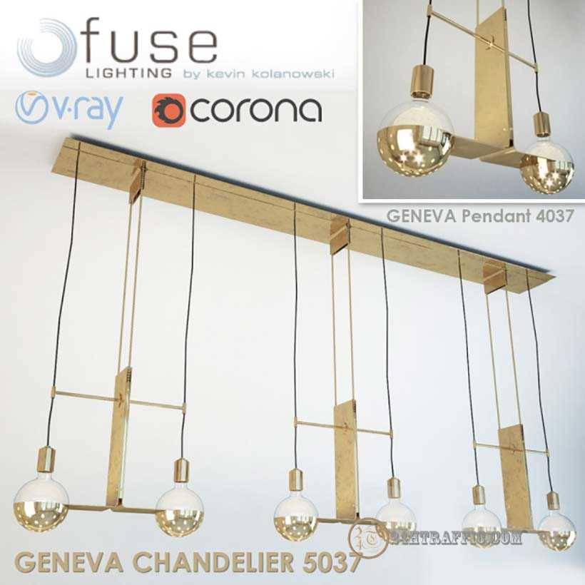 3dSkyHost: Free Model 3D Ceiling Light Geneva Chandelier and Pendant