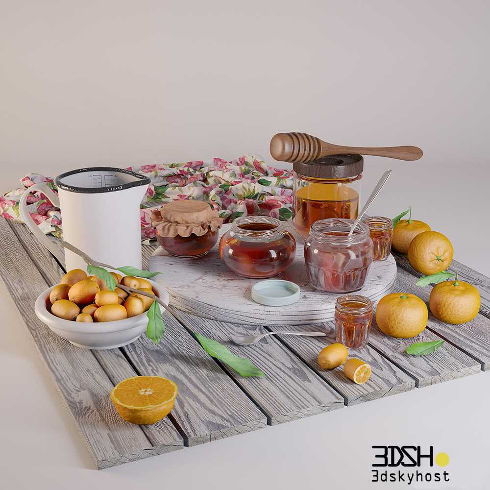 3D Food And Drinks Model Free Download