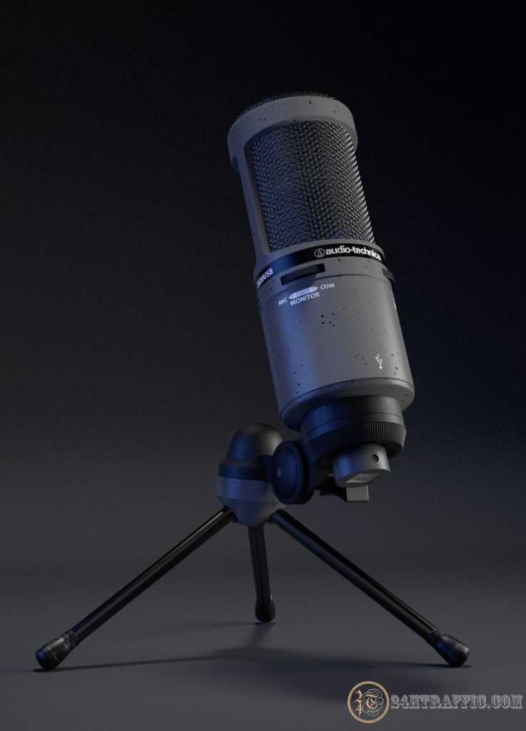 3dSkyHost: 3d model Audiotechnica 2020usb from Janis Zemitis