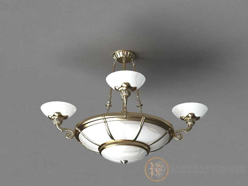 3dSkyHost: Free Model Lamp chandelier tisso