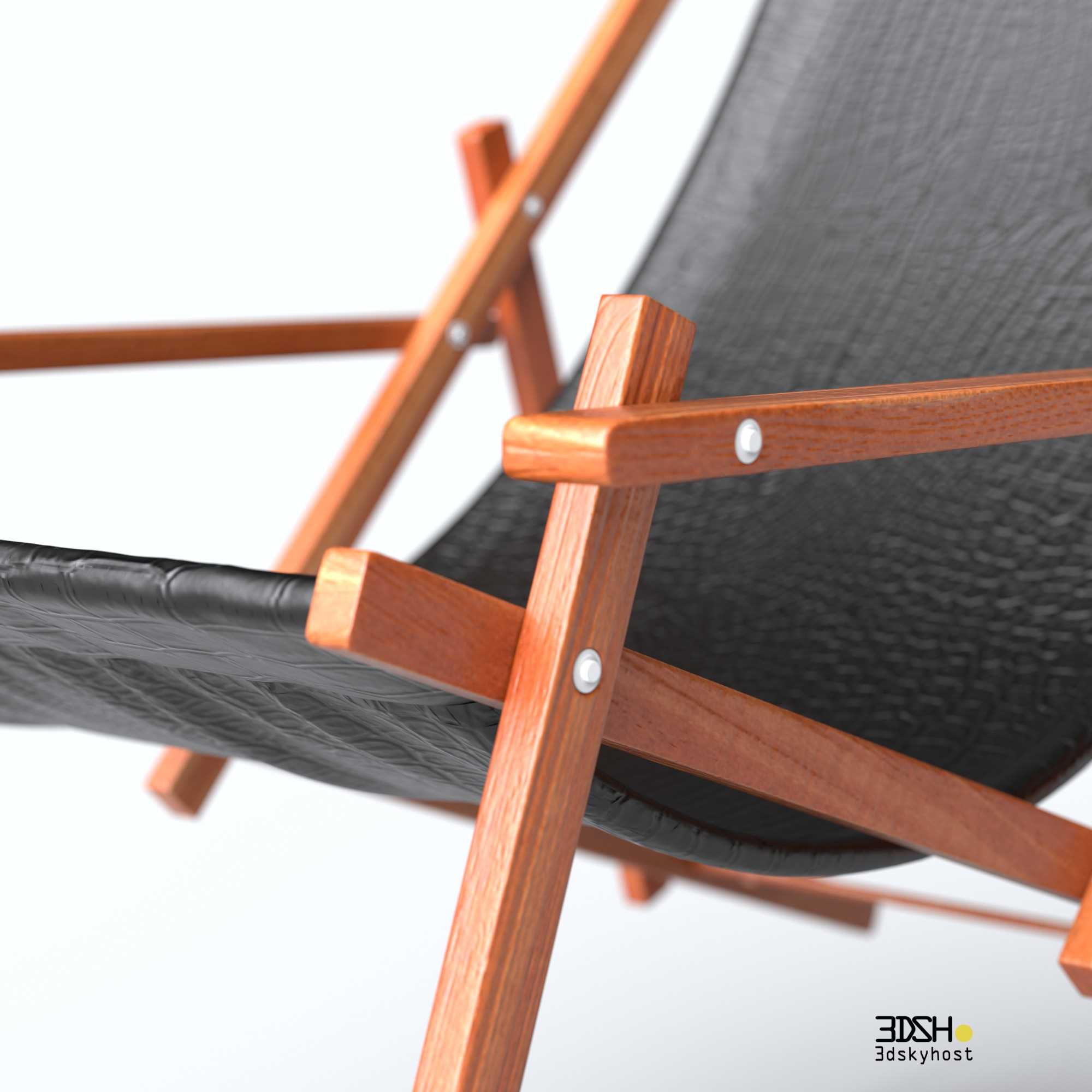 3dSkyHost: 3D Model leather sling chair free download