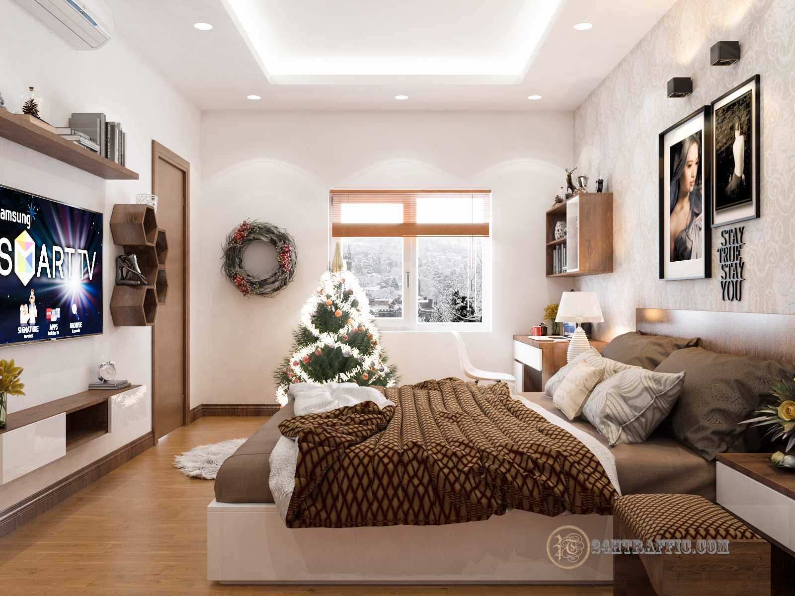 3dSkyHost: 3D Interior Scenes File 3dsmax Model Bedroom 36