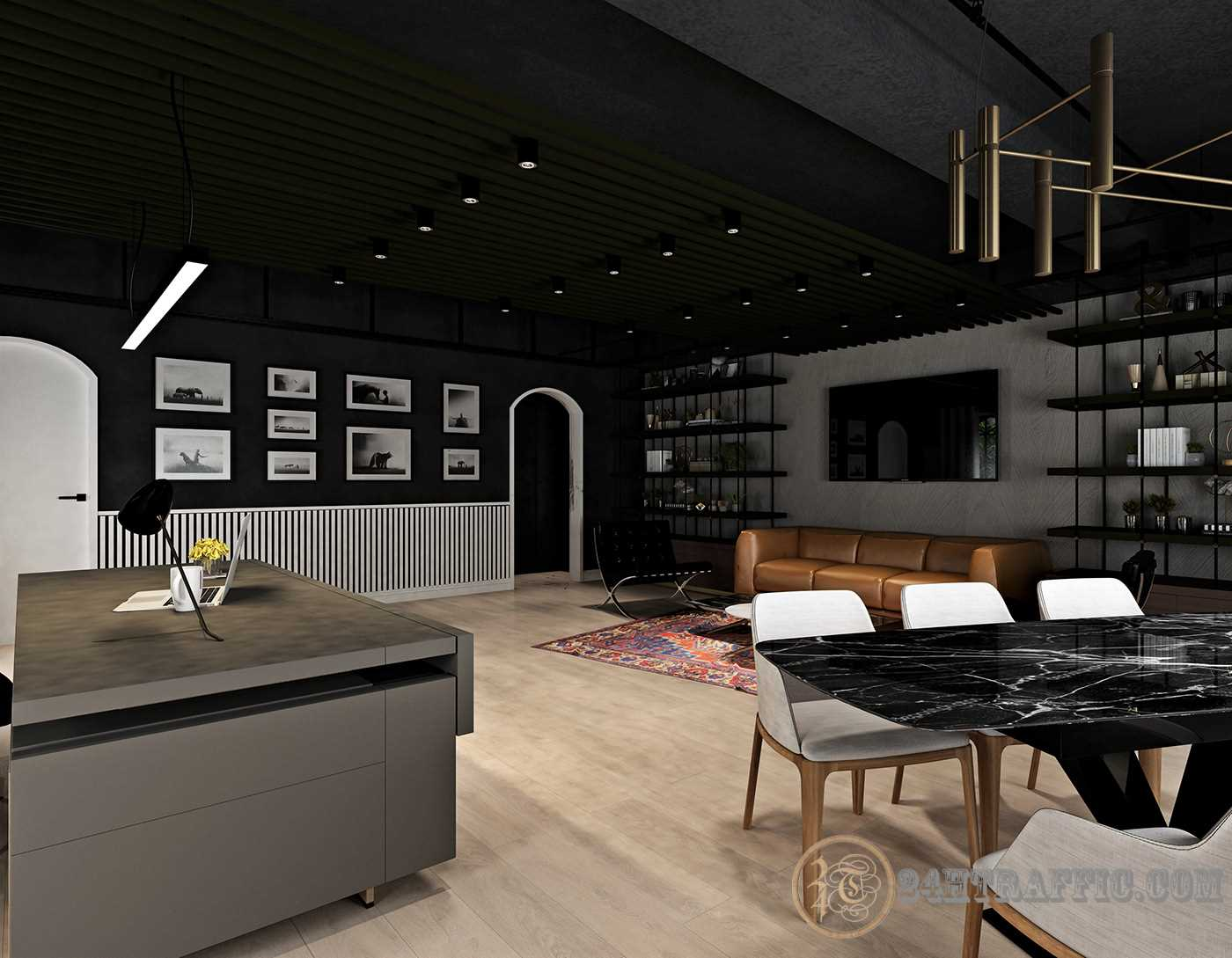 3dSkyHost: 3D Interior Scenes File 3dsmax Model Executive Room