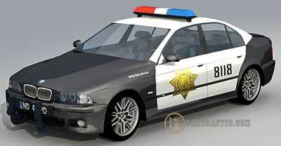 3dSkyHost: 3D model BMW M5 cop skin free download