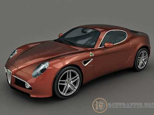 3dSkyHost: 3D Model Alfa Romeo 8C Competizione free download