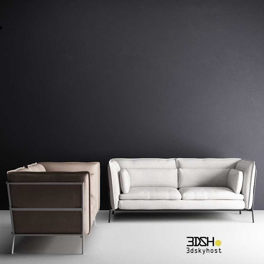 3dSkyHost: 3d model Cappellini - Basket Sofa And Armchair free download