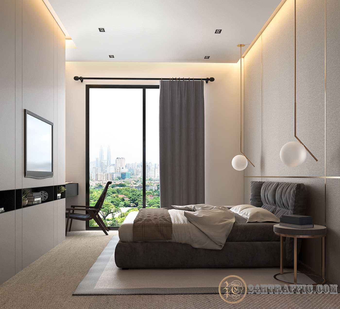 3dSkyHost: Interior Bedroom and WC Scenes File 3dsmax Free Dowload