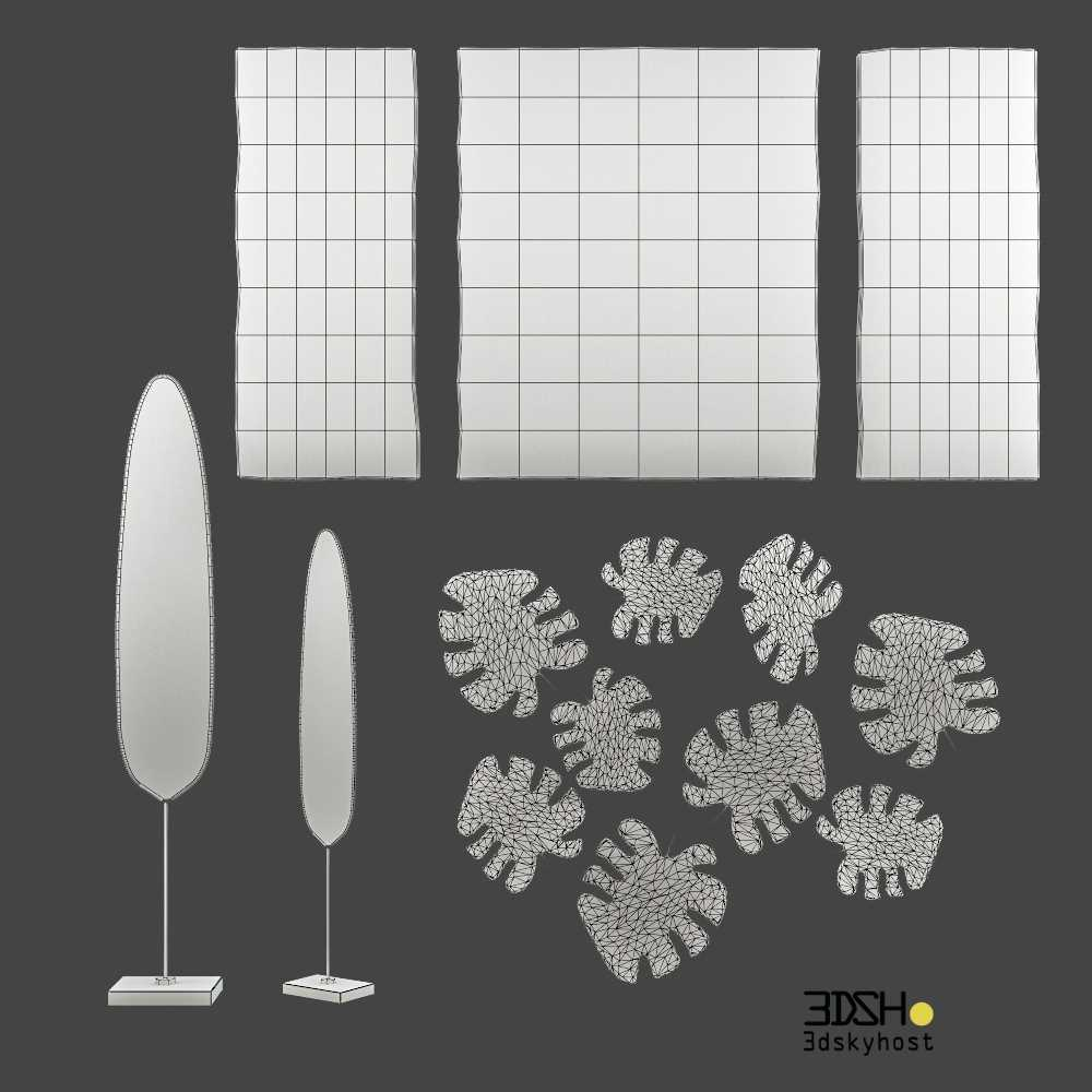 3dSkyHost: 3D Model decorative set, figurine, panel free download