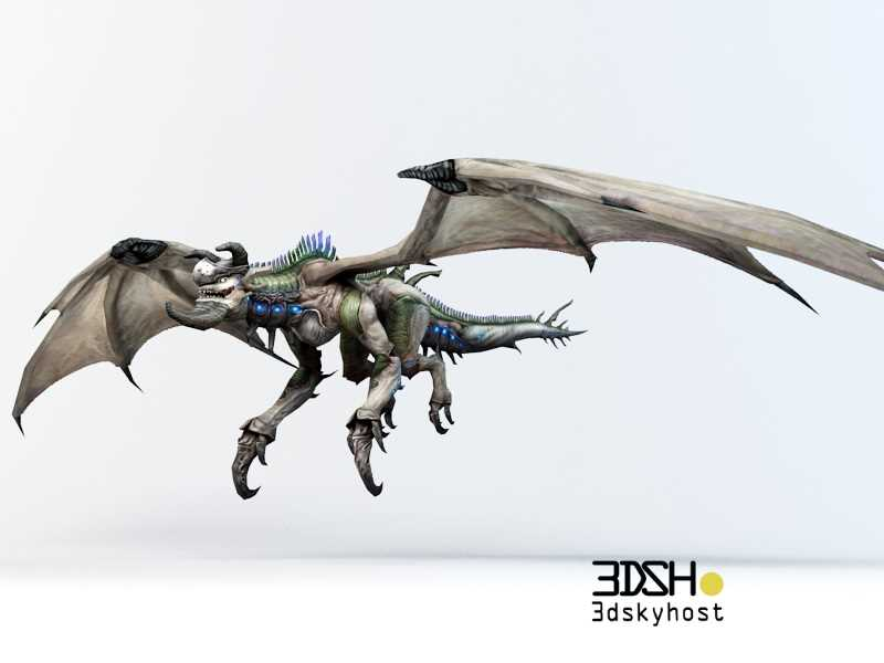 3dSkyHost: 3D Model Drake Creature free download