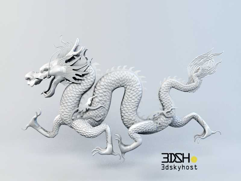 3dSkyHost: 3D Model Chinese Dragon free download