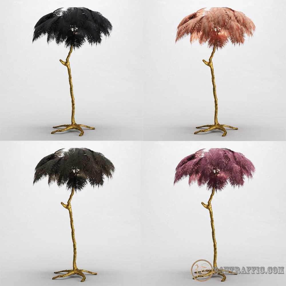 3dSkyHost: 3D model Ostrich Feather Lamp free download