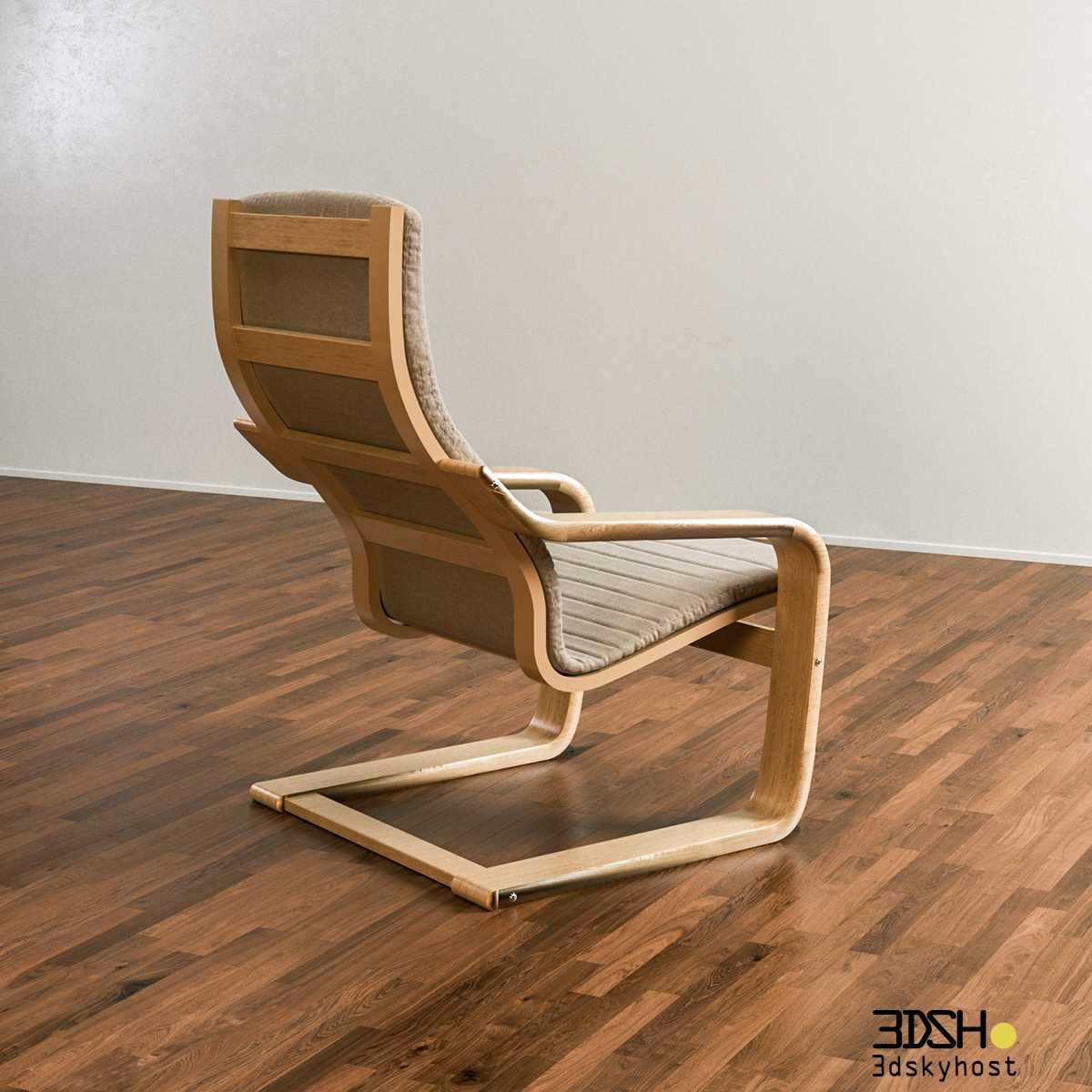 3dSkyHost: 3D Model Poang Armchair | Mohamed Nabil free download